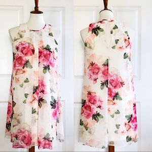 Calvin Klein chiffon floral swing dress
